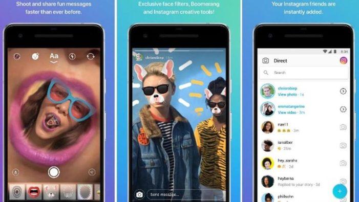 Instagram sperimenta Direct, un'app per i messaggi privati: in Italia è già disponibile