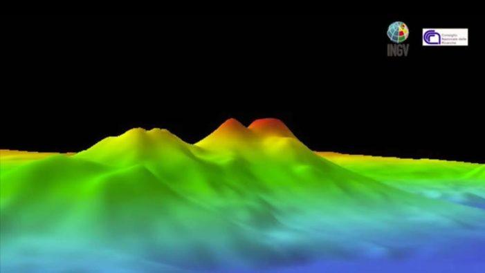 Scoperti sette vulcani sommersi nel Tirreno